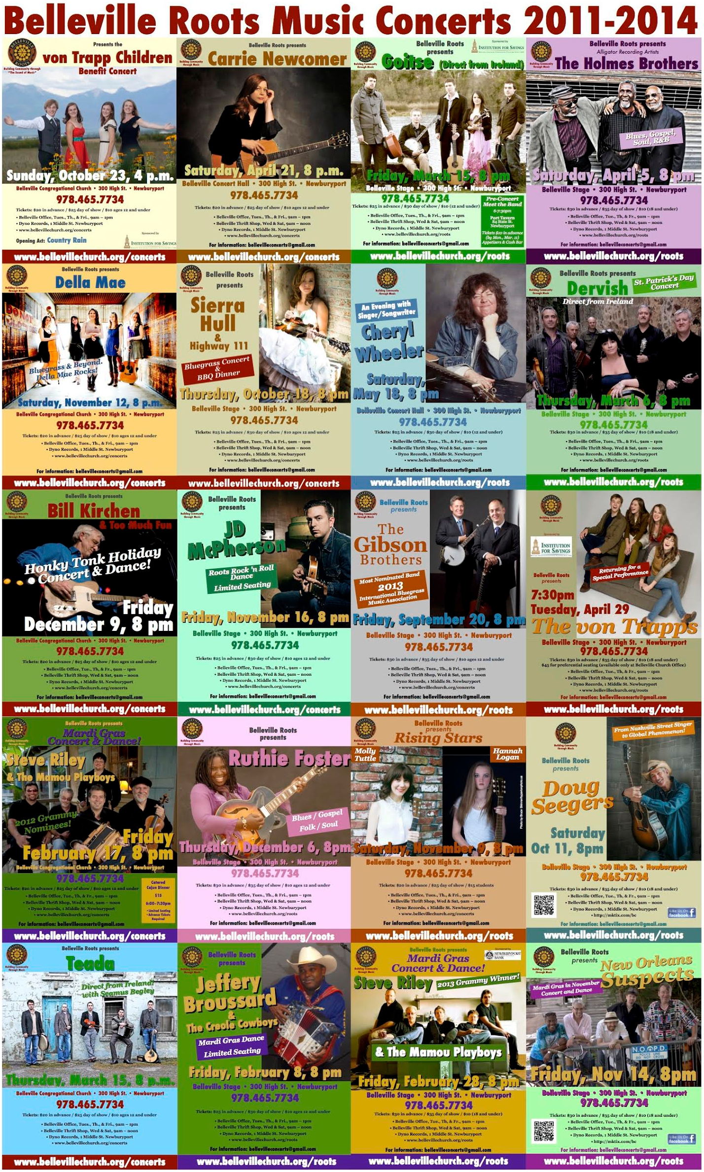 Posters of all 2014-15 Concert Series Events